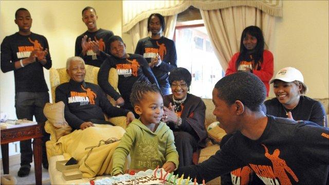Nelson Mandela and family