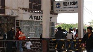 Villazon border crossing between Argentina and Bolivia