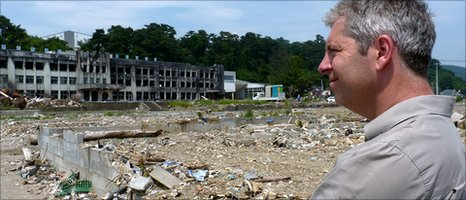 Justin Webb, at what remains of the port area of Ishinomaki
