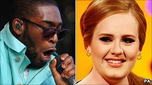 Tinie Tempah and Adele