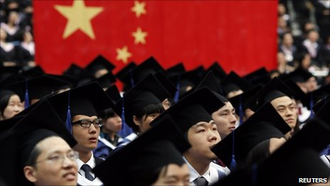 Students graduate from Shanghai's Fudan University, July 2 2011