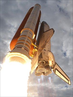 Shuttle Endeavour launch in 2011