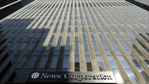 The front of the News Corporation Headquaters