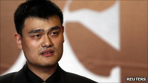NBA player Yao Ming speaks during a news conference to announce his retirement from basketball, in Shanghai July 20, 2011