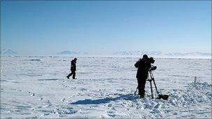 David Shukman in the Arctic