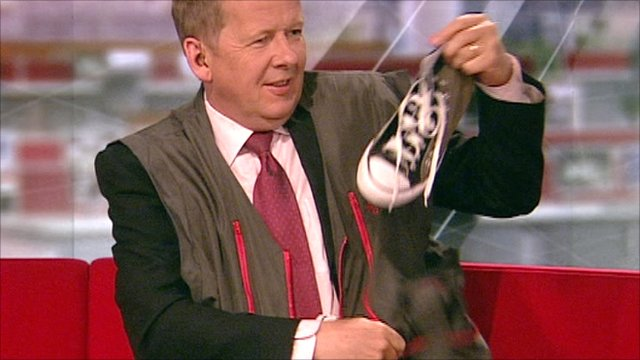 The BBC's Bill Turnbull in a new travellers' jacket