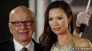 Rupert Murdoch with wife Wendy Deng