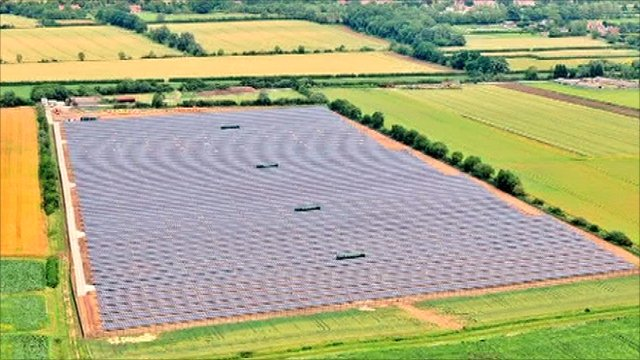 Solar farm at Wilburton