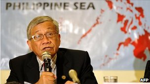 Philippine legislator Walden Bello speaks at a press conference in Manila on July 18, 2011, to announce plans by lawmakers to make a special visit to the Spratly islands in order to assert the country's claim to the outcroppings amid rising tensions with China over the area.