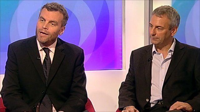 Tim Montgomerie and Kevin Maguire