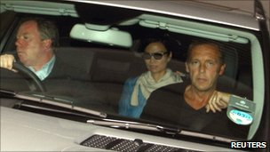 Wendy Deng being driven away from Rupert Murdoch's London apartment on 20 July 2011