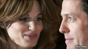 Jemima Khan and Hugh Grant in 2007