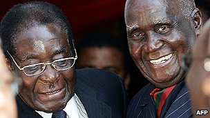 Zambian ex-president Banda (right)