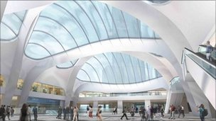 Artist's impression of the atrium