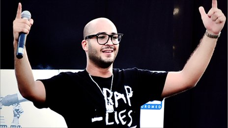 Egyptian hip hop artist Deeb. Photo by Asmaa Ezzat