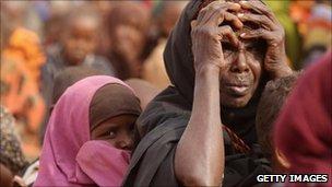 Somali refugees in Dadaab refugee camp in Kenya - 20 July 2011