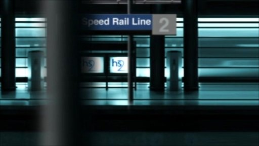 High Speed Rail platform graphic