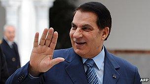 Tunisian former president Ben Ali
