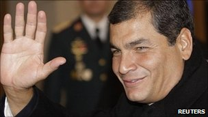 Ecuador&#039;s President Rafael Correa (file image)