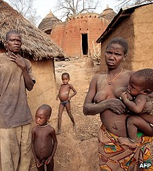 Villagers in Tamberma Valley