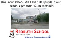 Part of Redruth's presentation to their Olympic Dreams twin