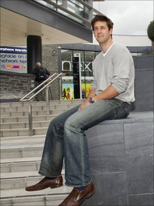 Olympic gold medallist Tom James at the Eagles Meadow shopping centre in Wrexham