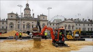 Sand at Horse Guards Parade