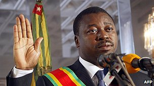 Togo's president Faure Gnassingbe Eyadema