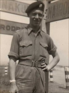Mike Cooper as a soldier in Kenya