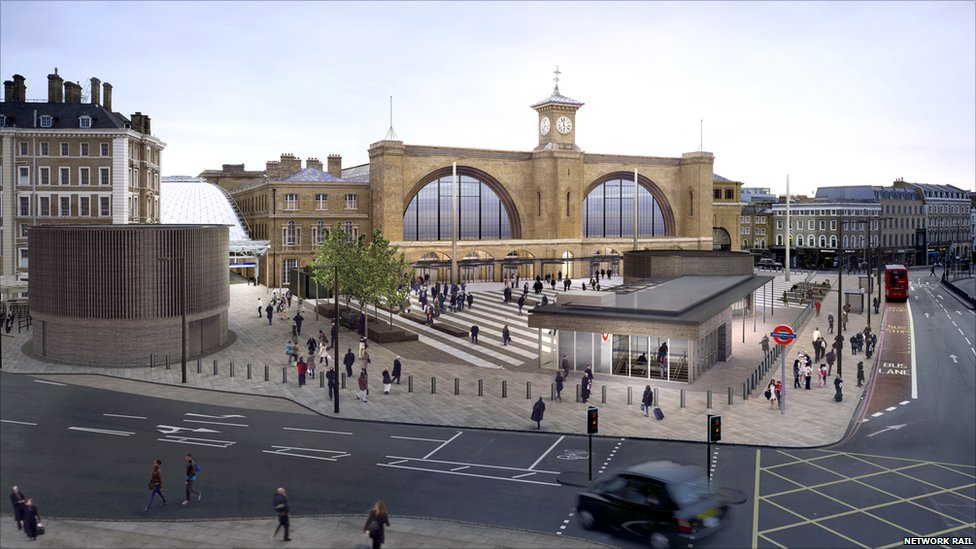 Bbc news in pictures new public square at london 39 s king - Kings cross ticket office opening times ...