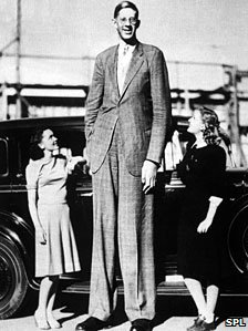 Robert Wadlow, the tallest man in medical history.