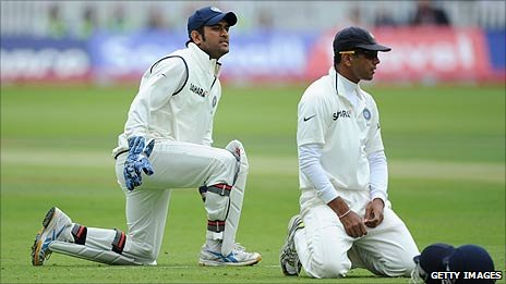 Mahendra Dhoni and Rahul Dravid