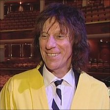 Jeff Beck after receiving his honorary degree