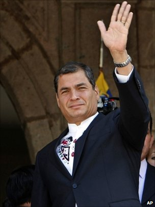 President Correa in his palace in Quito
