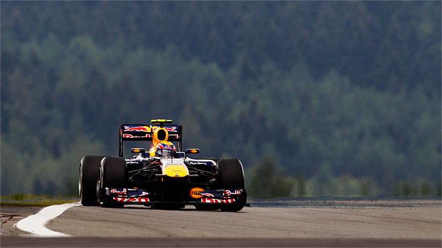 Mark Webber's Red Bull at the German Grand Prix