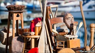 A selection of wood donations received by The Boat Project (Photo Toby Adamson)