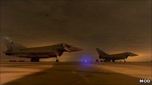 RAF Typhoons. Pic: MoD/Reuters