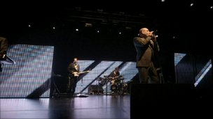 Heaven 17 performing on stage