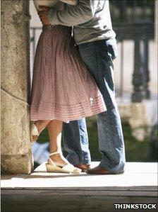 A kissing couple