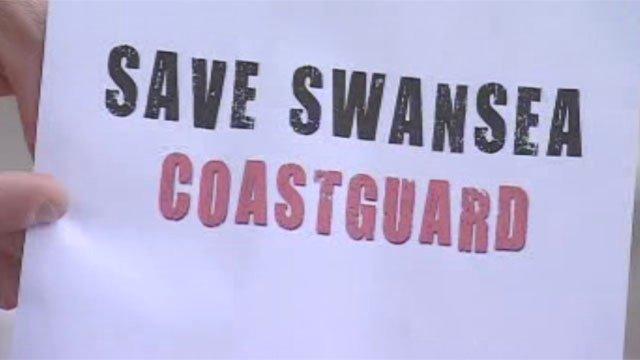 Coastguard protest