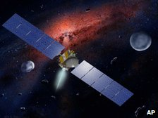 Artist's impression of Nasa's Dawn probe in space