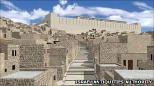 Simulated image of the Second Temple in ancient Jerusalem