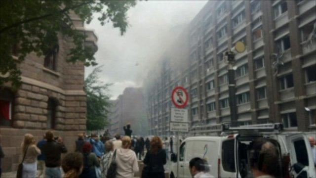 Area of the blast