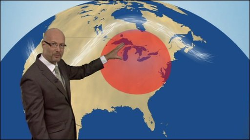 BBC Weather&#039;s Peter Gibbs explains why a &#039;dome&#039; of persistent high pressure is to blame for the current heatwave over Northern America.