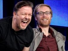 Ricky Gervais and Stephen Merchant