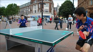 Paralympic hopefuls play table tennis in Hull