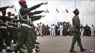 South Sudan&#039;s army on Independence Day in Juba, 9 July 2011