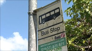 Western Greyhound and First bus stop