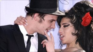 File photo dated 03/06/07 of Blake Fielder-Civil with Amy Winehouse