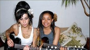 Amy Winehouse with Dionne Bromfield